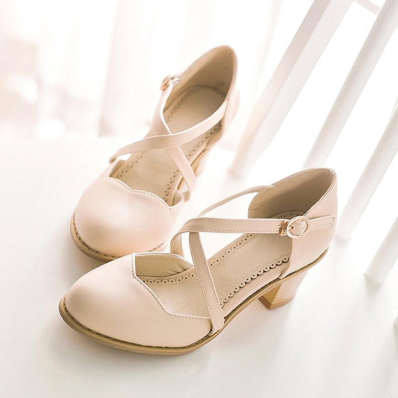 Korea Petal Cross Strap Girls Sandals Spring Shoes