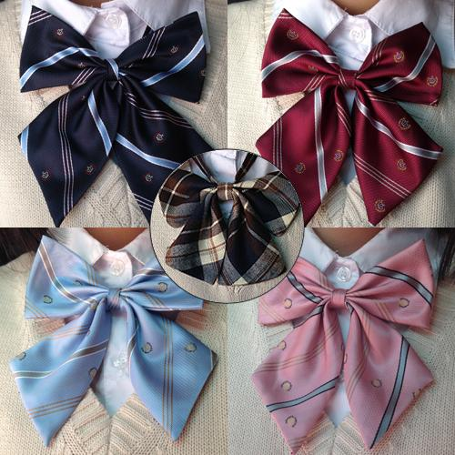 Japanese JK College Colors Plaid Bow Tie