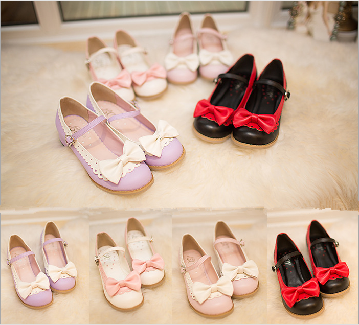 Harajuku Sweet Lolita Summer Bow Shoes