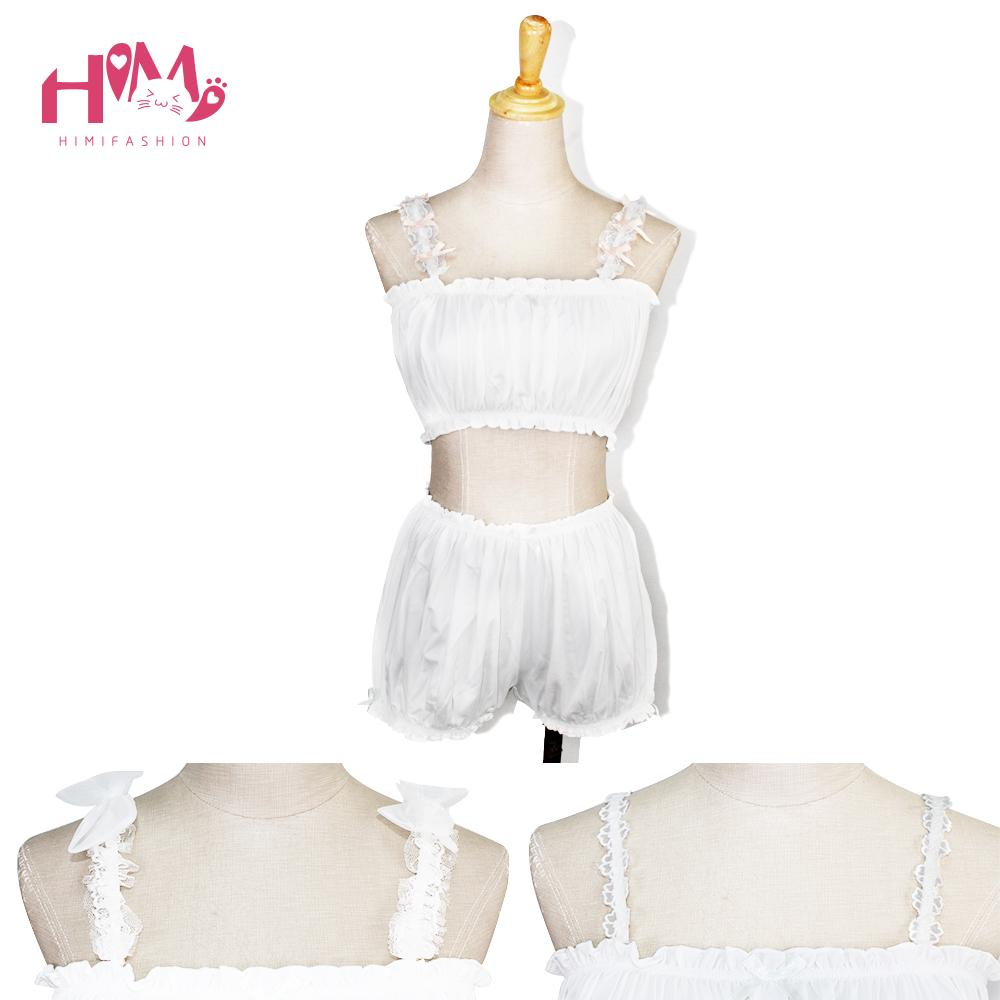 3 Ways Flower Lace Shoulder Girdle Undergarment Pants Set
