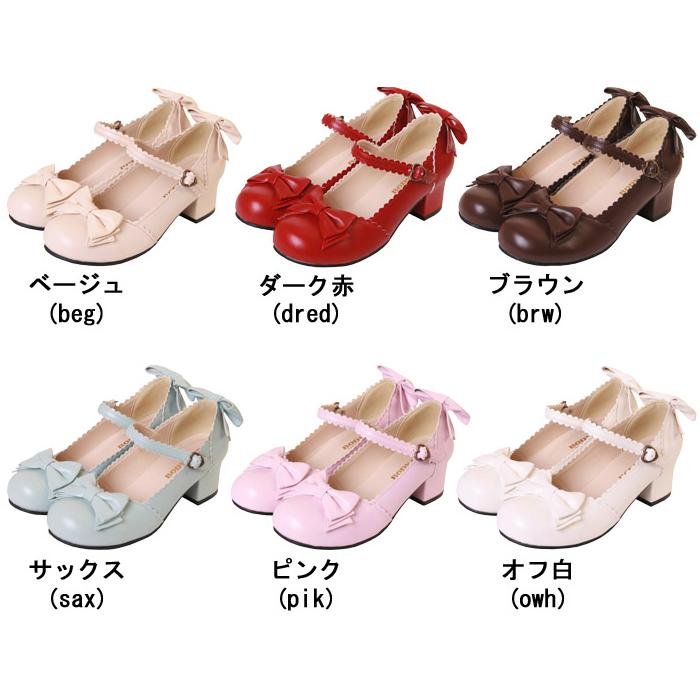 Bows Lolita Heels Cute Shoes 11 Colors