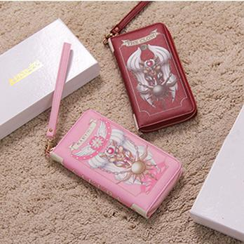 Pink Red Comic Cardcaptor Handbags Wallets