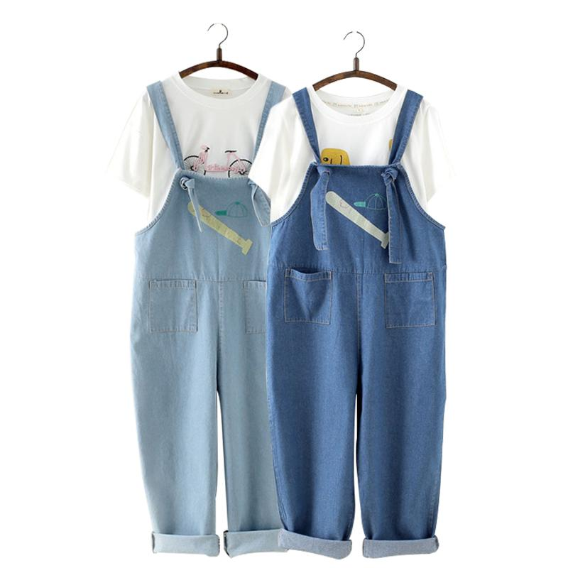 Baseball Bat Cap Denim Bib Overall