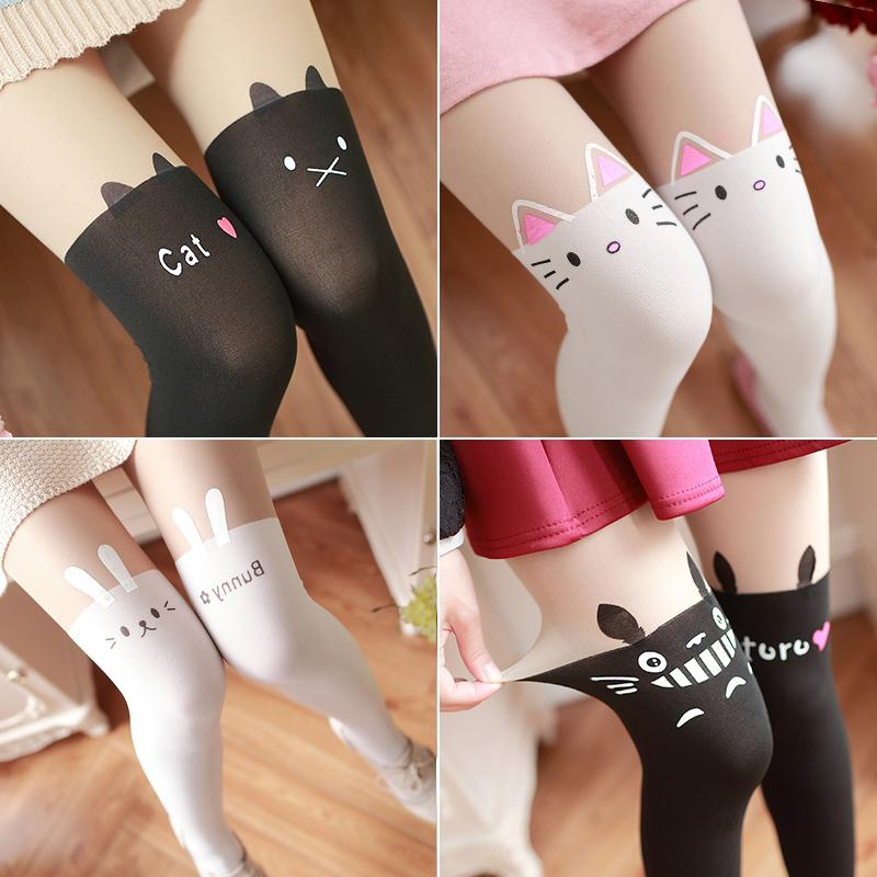 Cartoon Animals False Tube Socks Pantyhose