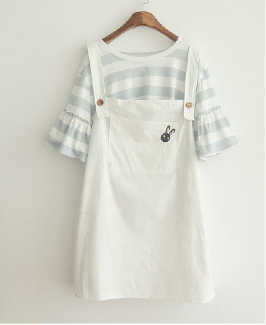 Pagoda Sleeve Shirt + Rabbit Bib Skirt