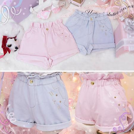 [Pre-sale In May] Cat Pocket High Waist Shorts