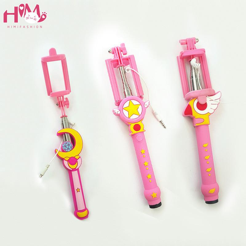Sailor Moon Selfie Stick with remote Free shipping