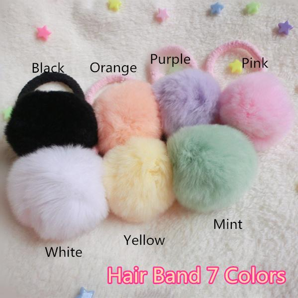 Fluffy Ball Ball Hair Band /Brooch