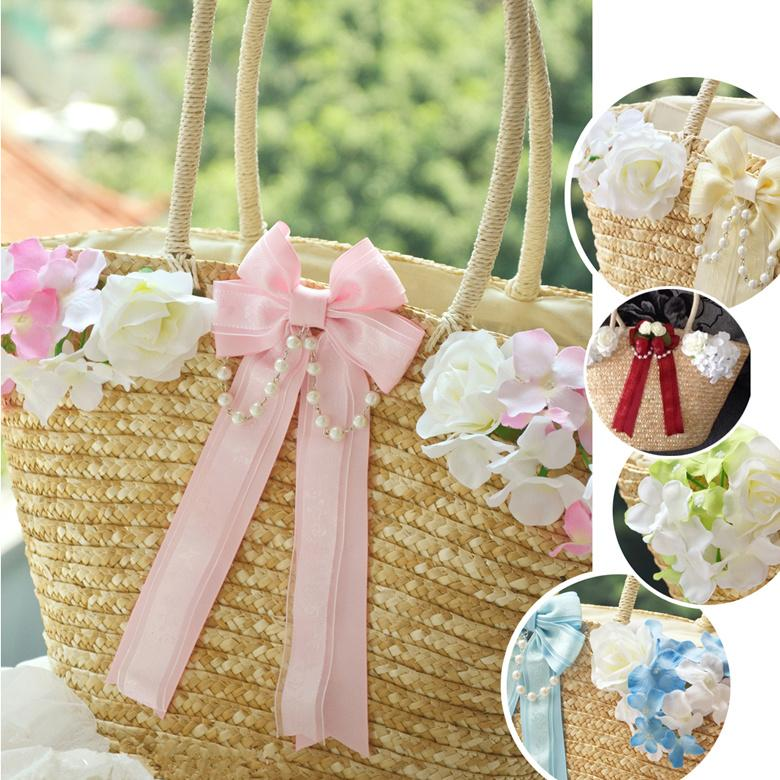 Lolita Flower Straw Bag