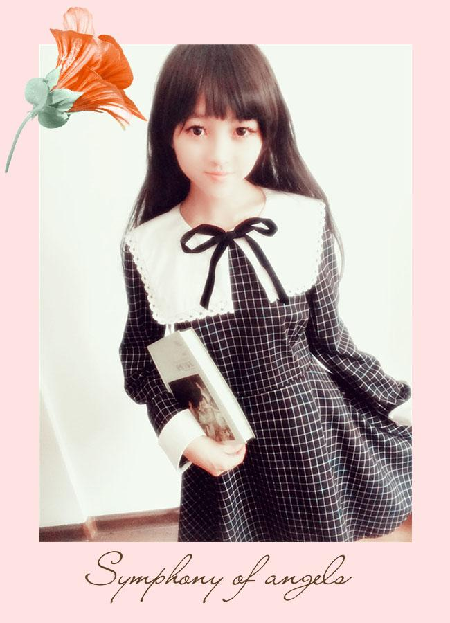 College Lattice Lolita Dress