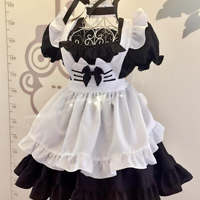 Lolita Cat Maid Dress 4 Pieces Set