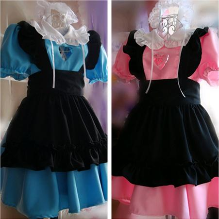 Love Cut Out Maid Lolita Dress 3 Pieces