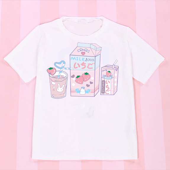 Kawaii Comic T-shirt 14 Versions