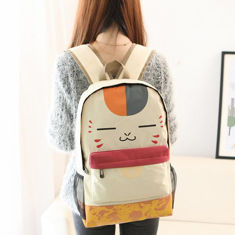 Cartoon cat backpack school bag