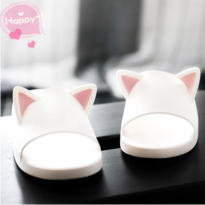 Kitty Ears Plastic Home Slipper