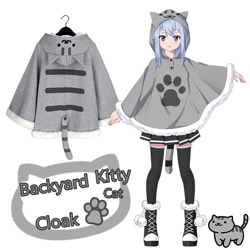 Cartoon Cosplay Cat Warm Cloak