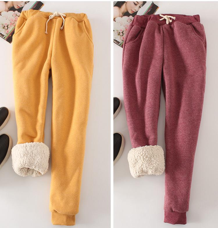 Winter Warm Lamb Inner Cotton Trousers 3XL Plus Size