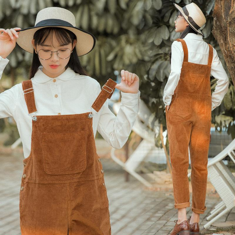 Women Corduroy Jumpsuits 4 Colors