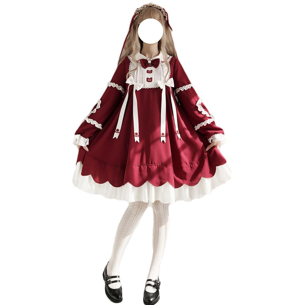 Pre-sale Red Bear Dolly Lolita Dress For Ladies