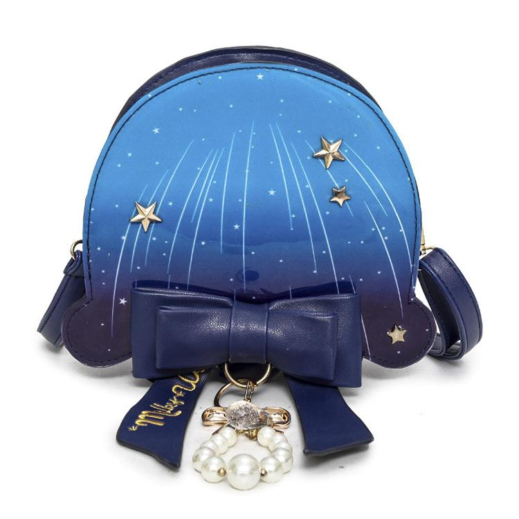 Lolita Galaxy Star Pearl Chain Bow Jellyfish Shoulder Bag