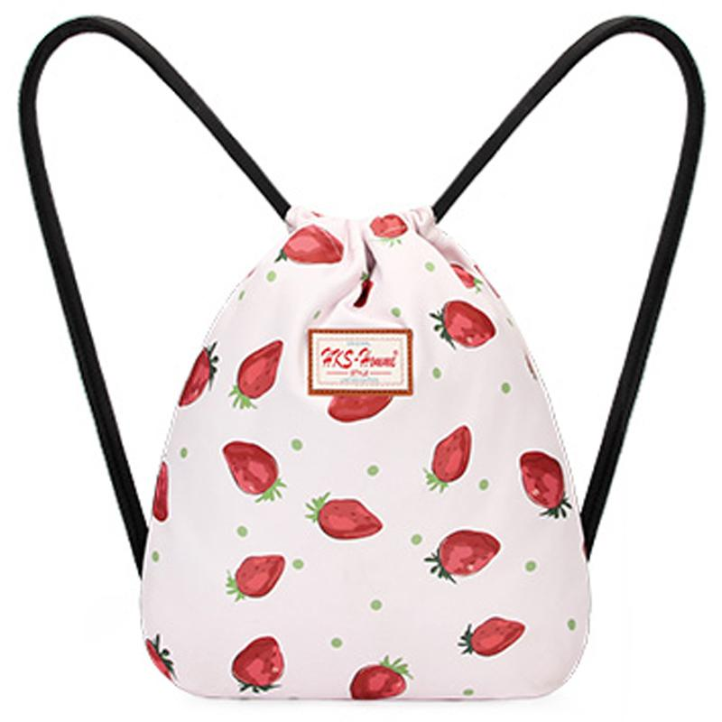 Cute Printed Drawstring Backpack