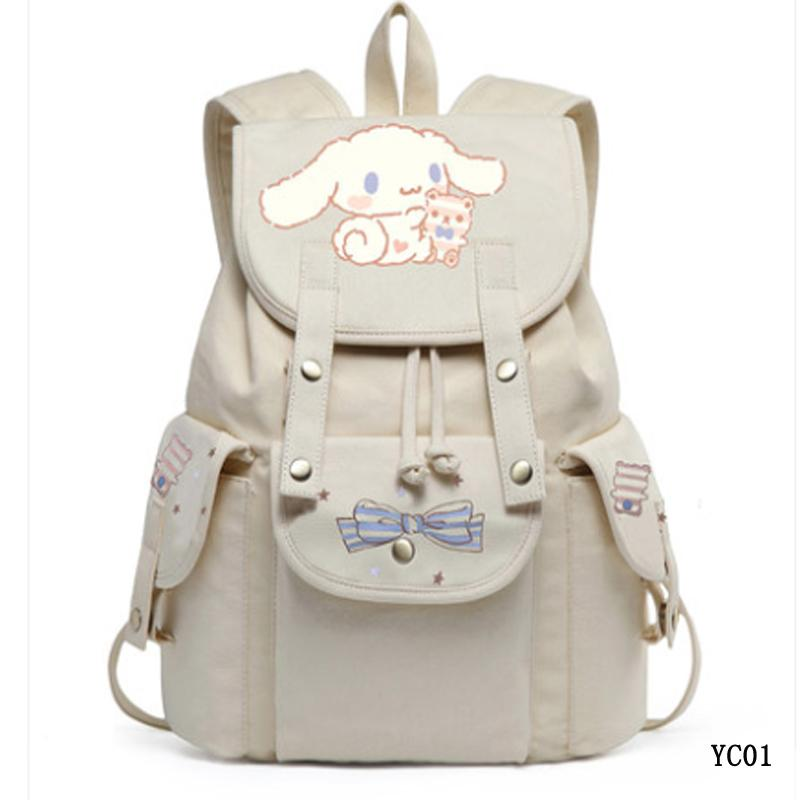 Kawaii Anime Print Canvas School Backpack