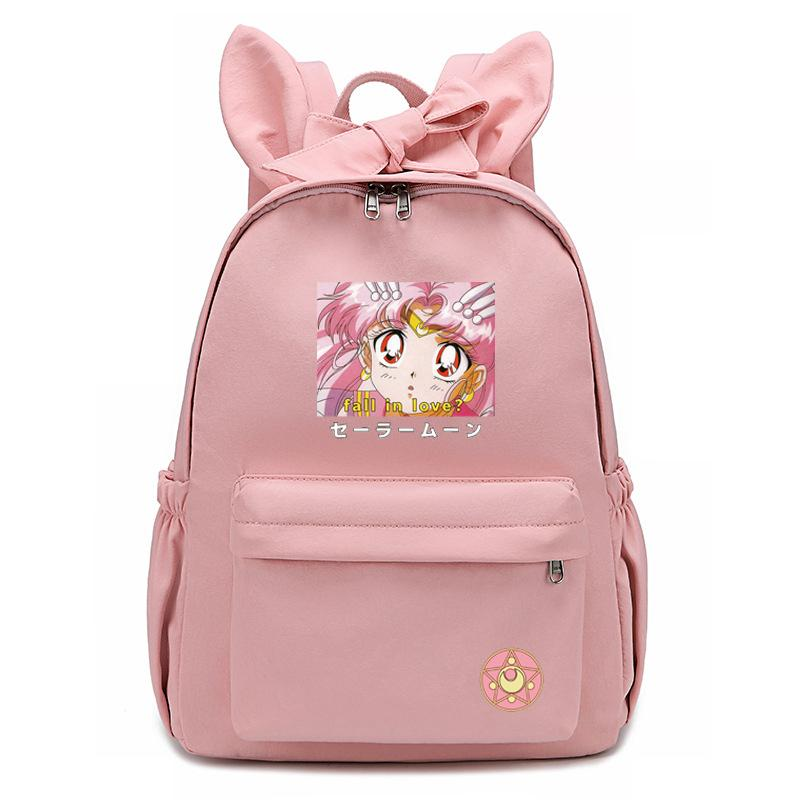 Sailor Moon Bow Cute Waterproof Backpack For Student