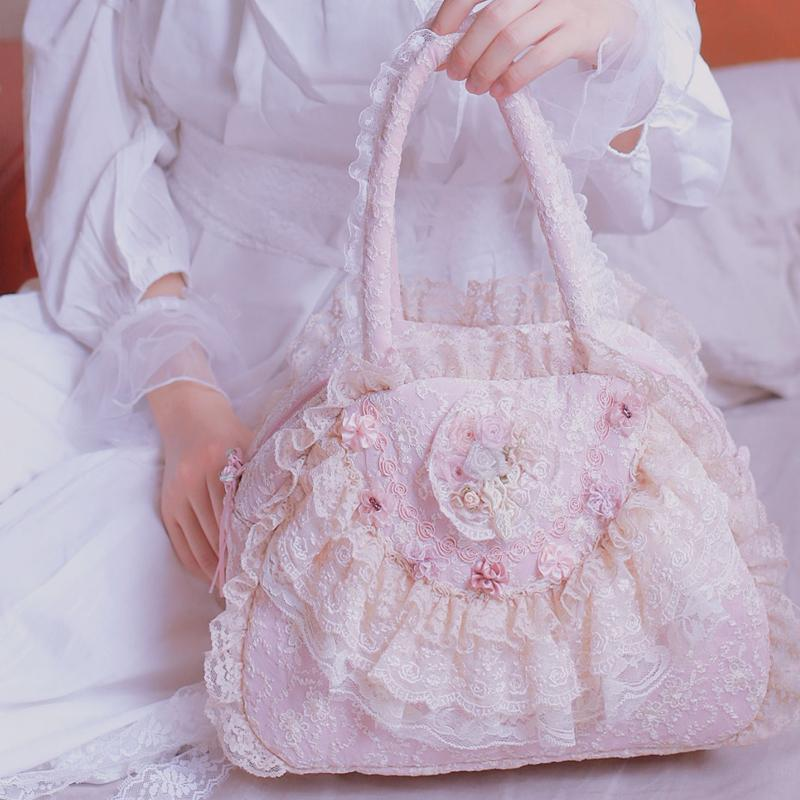 Lolita Lace Vintage Princess Handbag For Ladies